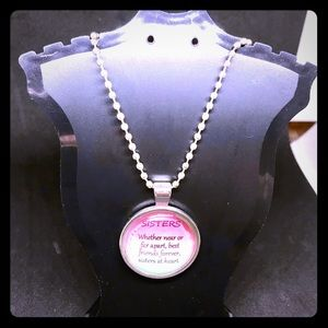 "Jewelry - NIP Silver ""Sisters"" Necklace"